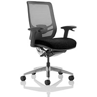 Ergo Click Operator Chair, Fabric Seat, Mesh Back, Black
