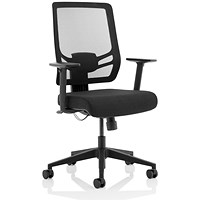 Ergo Twist Operator Chair, Fabric Seat, Mesh Back, Black
