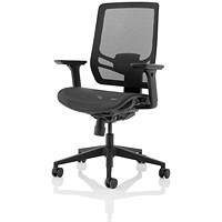 Ergo Twist Operator Chair, Mesh Seat, Mesh Back, Black