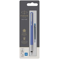 Parker Vector Fountain Blue PenMedium 67507