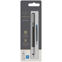 Parker Vector Fountain Blue PenMedium 67407