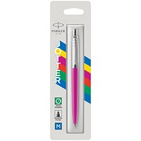Parker Jotter Ballpoint Pen Medium Tip Pink Barrel Blue Ink