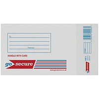 GoSecure Bubble Lined Envelope Size 1 100x165mm White (Pack of 20) PB02127