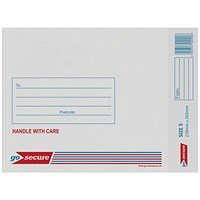 GoSecure Bubble Lined Envelope Size 5 220x265mm White (Pack of 20) PB02132