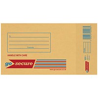 GoSecure Bubble Lined Envelope Size 1 100x165mm Gold (Pack of 20) PB02150