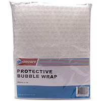 GoSecure Bubble Wrap Sheets 600mmx1m Clear (Pack of 6) PB02290