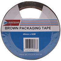 GoSecure Packaging Tape 50mmx66m Brown (Pack of 6) PB02296