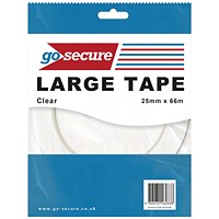 GoSecure Large Tape 25mmx66m Clear (Pack of 24)