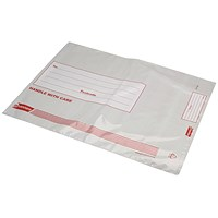 Postsafe Extra Strong Polythene Envelopes, C4, Peel & Seal, Opaque, Pack of 100