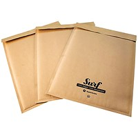 GoSecure Size G4 Surf Kraft Paper Mailer 240mmx330mm (Pack of 100) SURFG4K