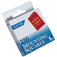 Photo Mounting Squares White (Pack of 250)