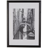 Photo Black Wood Non-Glass Frame A3