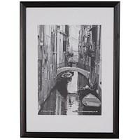 Photo Black Wood Non-Glass Frame A1