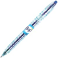 Pilot Begreen B2P Recycled Rollerball Pen, Retractable, 0.7mm Tip, 0.35mm Line, Blue, Pack of 10