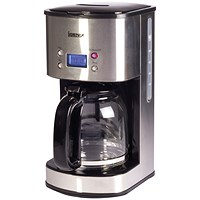 Digital 10 Cup Coffee Maker Silver