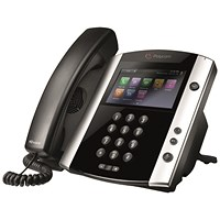 Polycom VVX 600 DECT Phone Black/White 2200-44600-025
