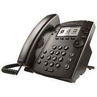Polycom VVX 301 IP Phone 6 Line LCD Black 2200-48300-025