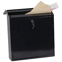 Phoenix Casa Top Loading Mail Box Black (Weatherproof, corrosion and rust resistant)