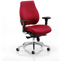 Chiro Plus Ergo Posture Chair, With Arms, Wine, Built