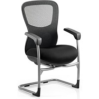 Stealth Shadow Ergo Posture Visitor Chair, Mesh, Black