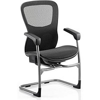 Stealth Shadow Ergo Posture Visitor Chair, Mesh, Black, Built