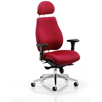 Chiro Plus Ergo Posture Chair With Headrest, Wine