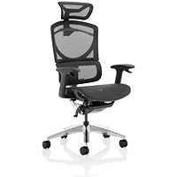 Ergo Click Plus Operator Chair, Mesh, With Headrest, Black
