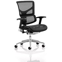 Ergo-Dynamic Posture Chair, Black Frame, Mesh, Black
