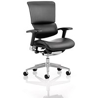Ergo- Dynamic Posture Chair, Black Frame, Leather, Black