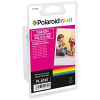 Polaroid Canon PG-512 Remanufactured High Yield Inkjet Cartridge Black 2969B001-COMP PL