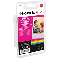 Polaroid Canon PG-510 Black / CL-511 Colour Remanufactured Inkjet Cartridge 2970B010-COMP PL