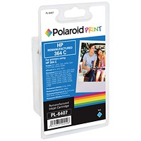 Polaroid HP 364 Cyan Ink Cartridge CB318EE