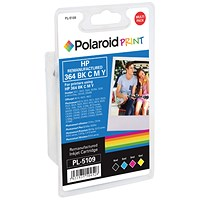 Polaroid HP 364 Ink Cartridges - Black, Cyan, Magenta & Yellow (4 Cartridges) N9J73AE