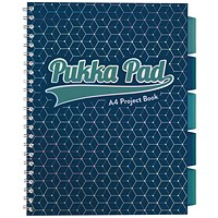 Pukka Glee Project Book Dark Blue A4 (Pack of 3)