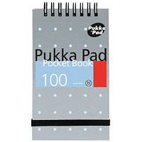 Pukka Pad Ruled Wirebound Metallic Pocket Notebook 100 Pages A7 (Pack of 6)