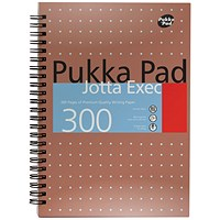 Pukka Pad Ruled Metallic Wirebound Executive Jotta Notepad 300 Pages A4+ (Pack of 3)7019-MET