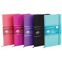 Pukka Pad Signature Soft Cover Notebook Casebound A5 Assorted (Pack of 5)