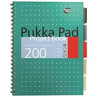 Pukka Pad Metallic Cover Wirebound Project Book B5 (Pack of 3)