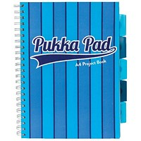 Pukka Pad Vogue Wirebound Project Book A4 Blue (Pack of 3)
