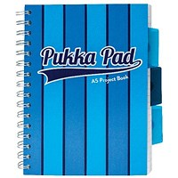 Pukka Pad Vogue Wirebound Project Book A5 Blue (Pack of 3)