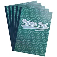 Pukka Glee Refill Pad A4 Green (Pack of 5)
