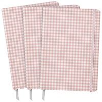Pukka Ballerina Softcover Journal Pink Check (Pack of 3)