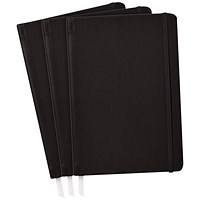 Pukka Softcover Journal Black (Pack of 3)