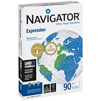 Navigator Expression A3 Paper, White, 90gsm, Ream (500 Sheets)