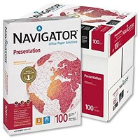 Navigator A4 Presentation Paper White, 100gsm, Box (5 x 500 Sheets)