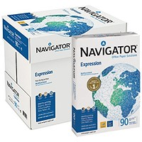 Navigator Expression A4 Paper White, 90gsm, Box (5 x 500 Sheets)