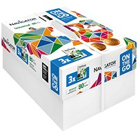 Navigator Universal On The Go A4 Paper, White, 80gsm, Small Box (3 x 500 Sheets)
