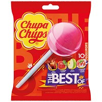 Chupa Chups The Best Of Lollipops (Pack of 10)