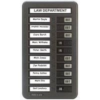 Indesign 10 Names In/Out Board Grey