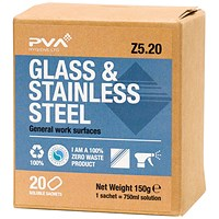 PVA Glass and Stainless Steel Sachets (Pack of 20) PVAB5-20